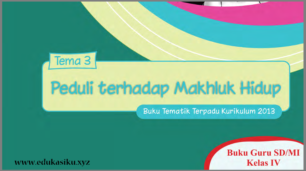 Download Buku Guru Tematik Kelas 4 Edisi Revisi Th. 2016 kurikulum 2013