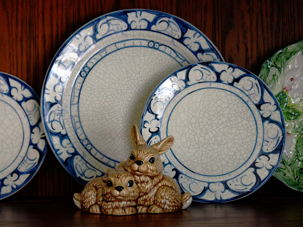 Dedham rabbit bunny china by the Potting Shed
