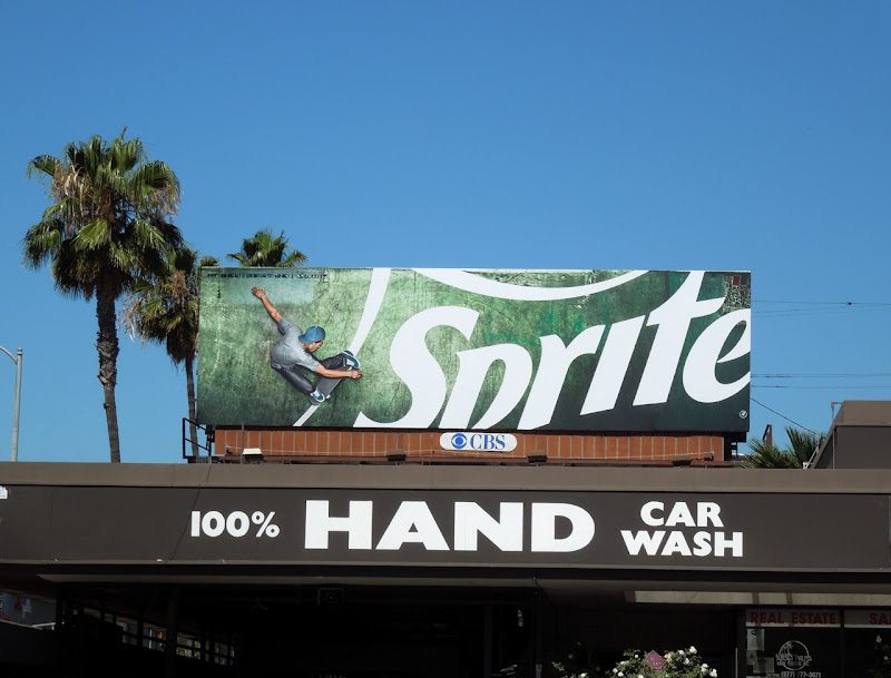 Sprite skateboarder billboard