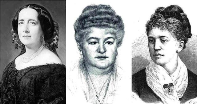 Gertrudis Gómez de Avellaneda, Emilia Pardo-Bazán y Rosario de Acuña
