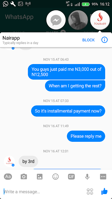 Nairapp is a Big scam Nigeria network