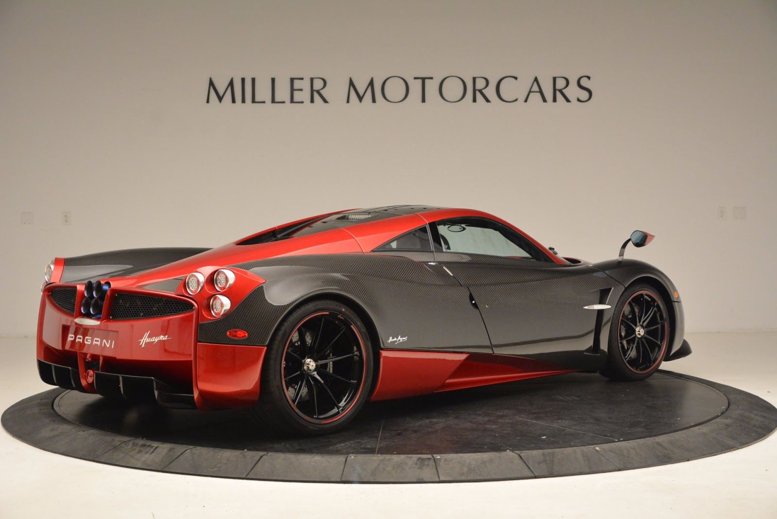 Stunning Red And Carbon Fiber Pagani Huayra For Sale In