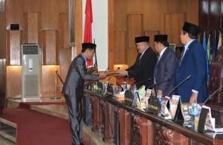 DPRD Sumsel Setujui Lima Raperda Usulan Pemprov