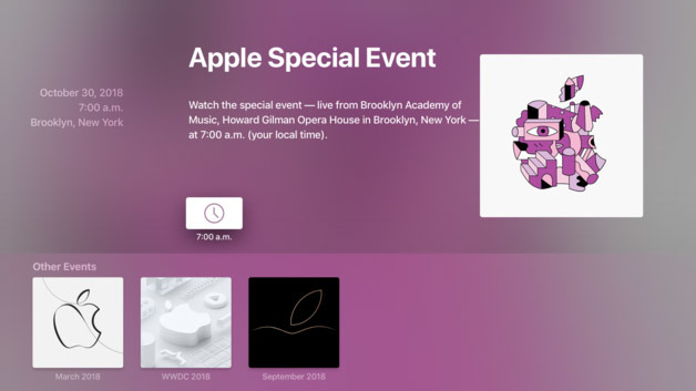 Apple Event on October 30