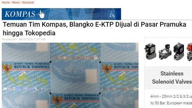 Waduh! Blangko e-KTP Dijual Online, Mendagri Bantah Ada Sistem yang Jebol