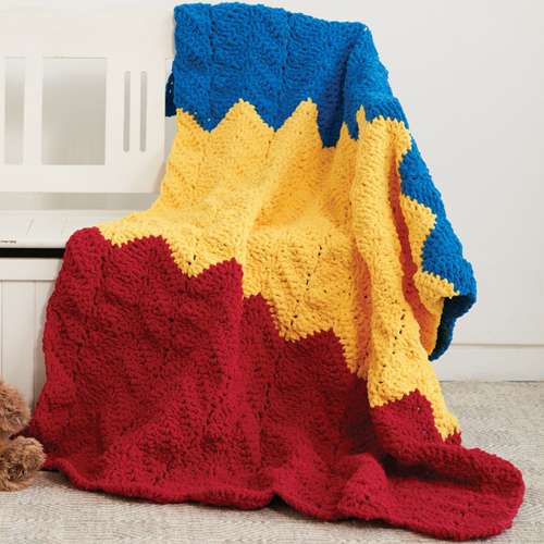 1-2-3Blanket - Free Pattern