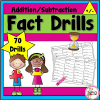 Fact Drills using Addition and Subtraction