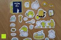 Sticker: Blue Vessel 5 PCS Kreative Niedlichen Kaninchen Fett Papier Notebook Marker Label Notizblock Haftnotizen