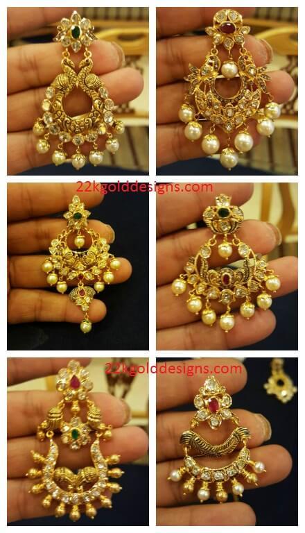 Latest Pachi Chandbali Earrings