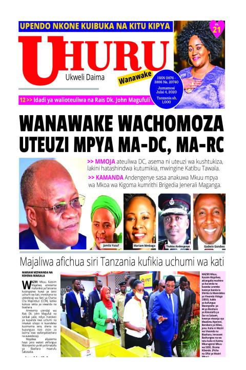 Magazeti ya Leo Jumamosi 4 Julai 2020