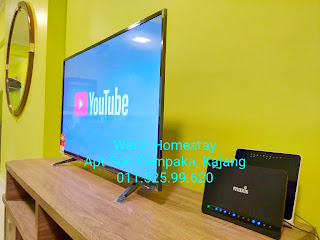 Warih-Homestay-Sri-Cempaka-Kajang-LED-TV-With-Youtube
