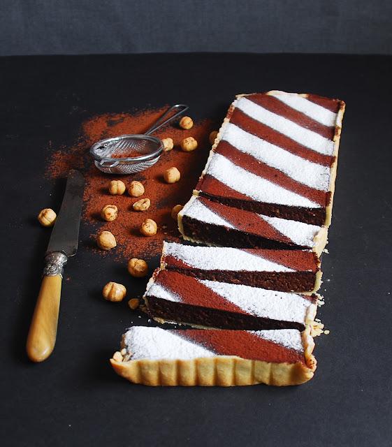 Tarta de chocolate y avellanas de Dulcesbocados.com