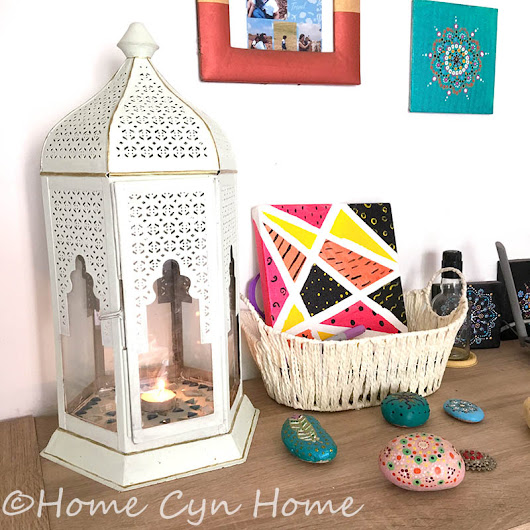 Moroccan lantern makeover - Home Cyn Home
