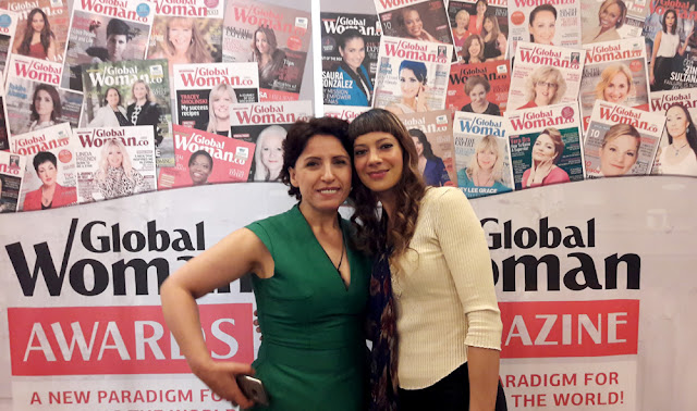 Anna-Christina with Mirela Sula, the editor of Global Woman Magazine