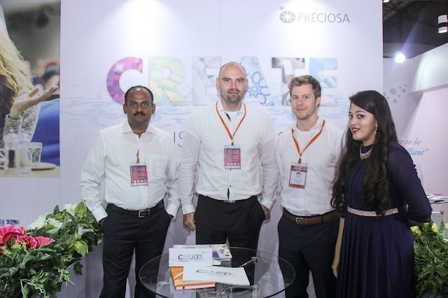 Mr.  Venkatesan Sundarrajon, Consultant, Marek Kinazs, Product Manager with Martin Spalek, Key Account Manager- Preciosa