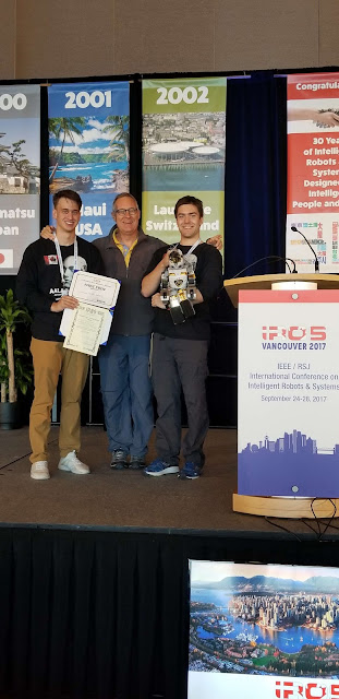 Kyle and Vlad team snobots 1st place at IROS 2017 Humanoid Application Challenge.