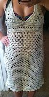 вязаное крючком пляжное платье