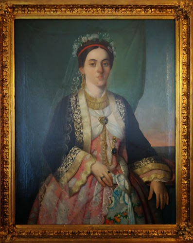 Portrait, oil painting, residence, of, Princess Ljubica, in, Belgrade, Serbia