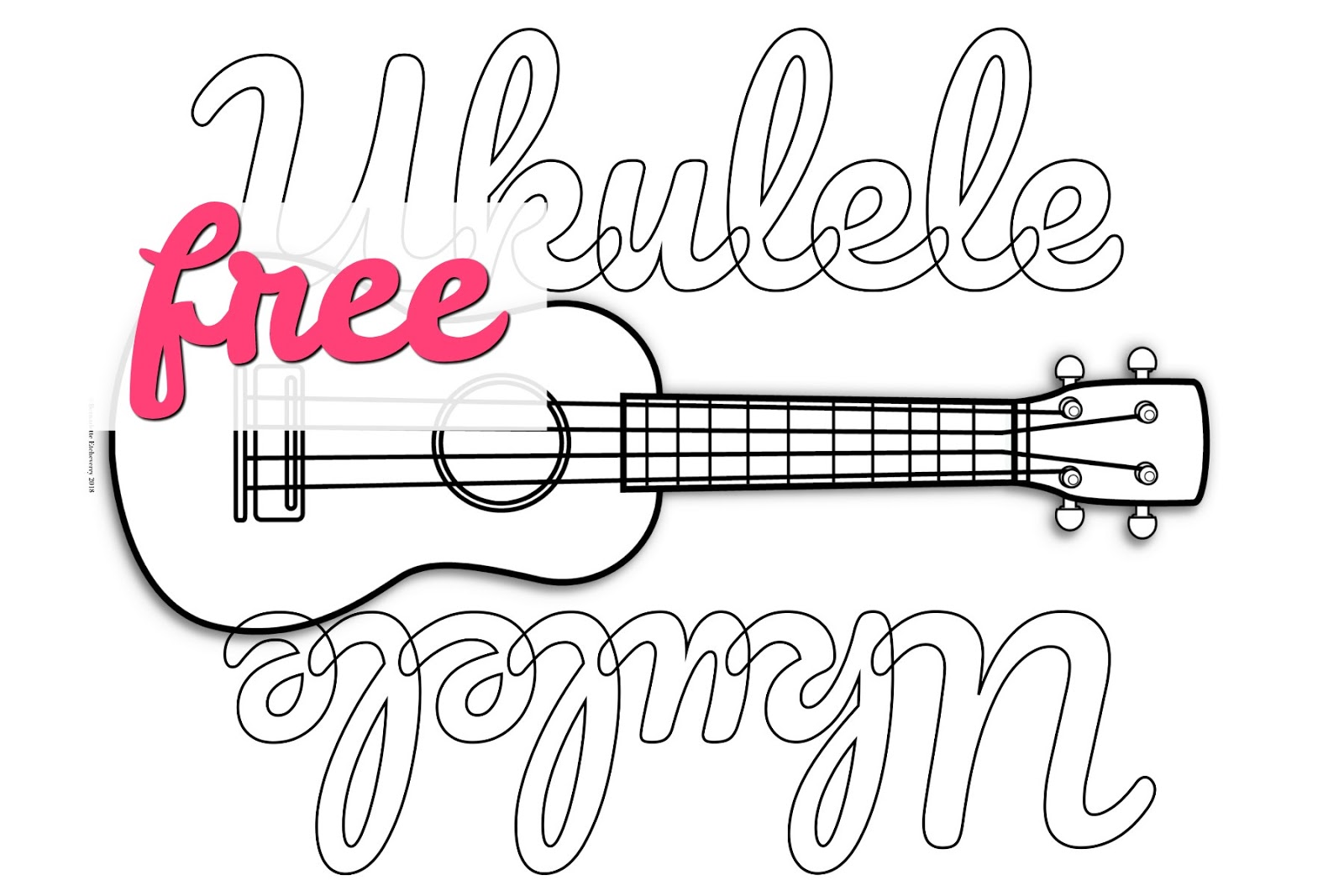 Free Ukulele Coloring Page Bernadette Teaches Music
