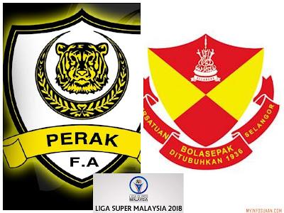 Live Streaming Perak vs Selangor Liga Super 11 Mac 2018