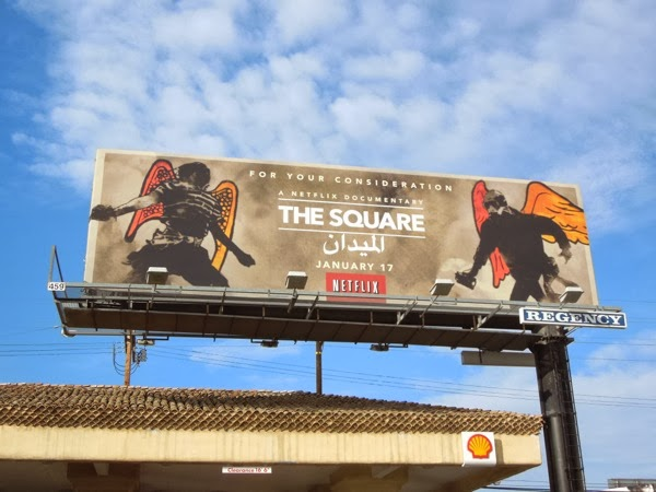The Square NetFlix documentary billboard