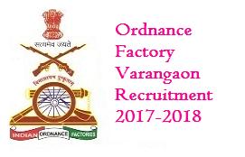 Ordnance Factory Varangaon Recruitment