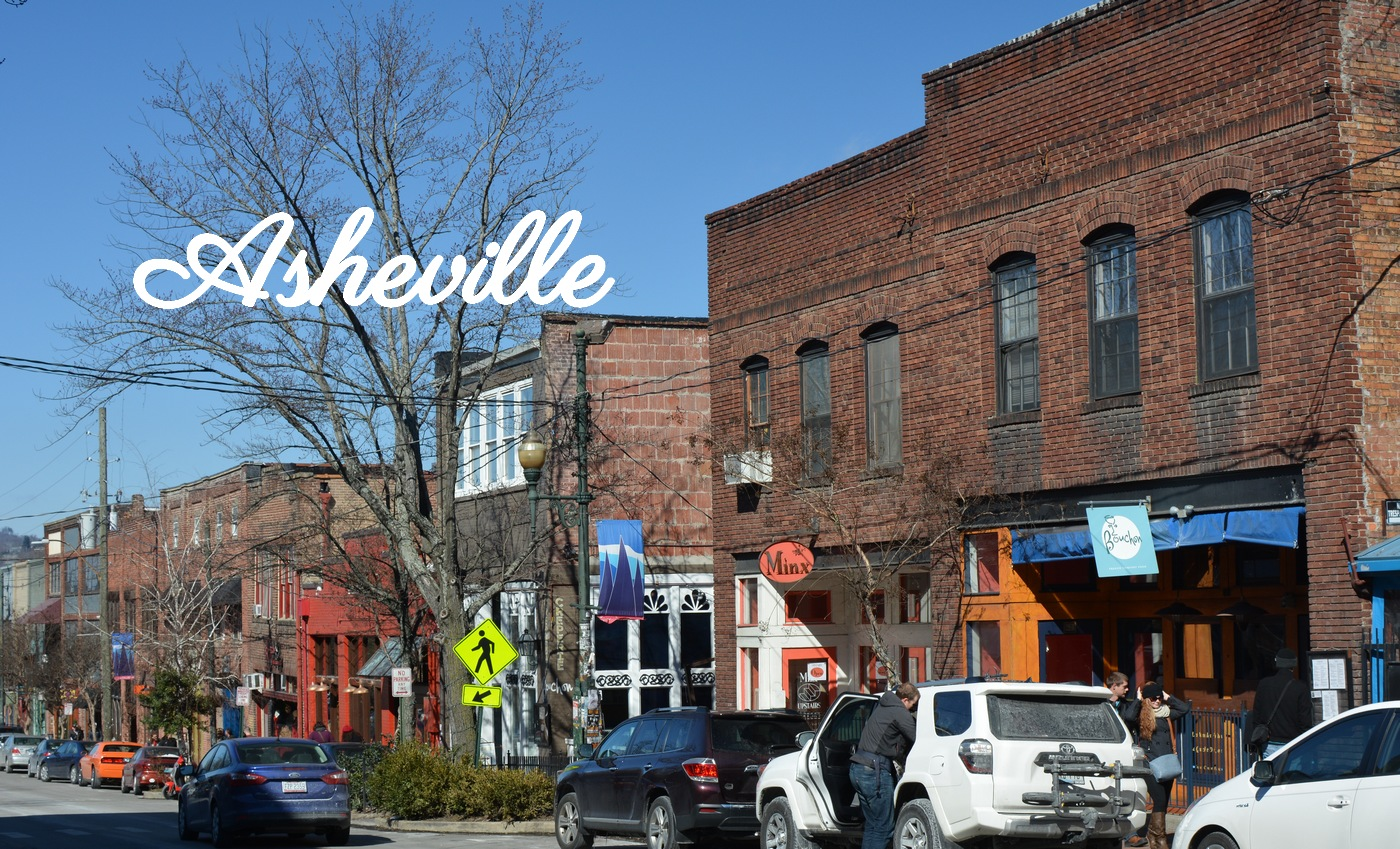 Rue à Asheville Caroline du Nord