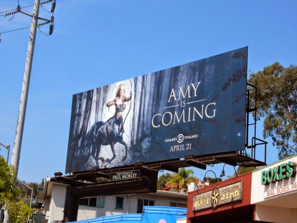 Amy is Coming Inside Amy Schumer season 3 billboard