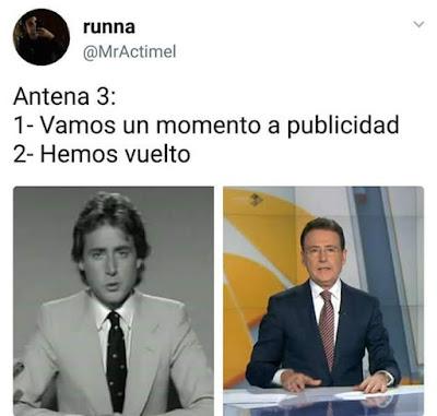 Antena 3 , vamos un momento a publicidad,hemos vuelto, Matías Prats