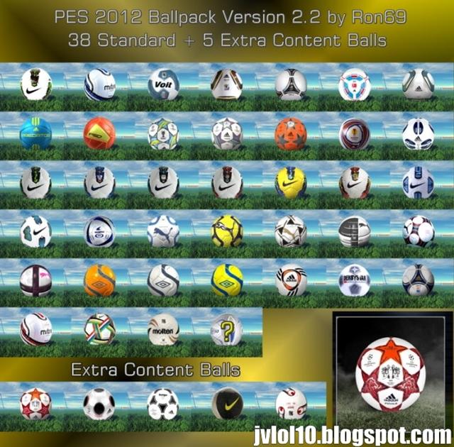 v2.2 - 43 Novas Bolas de Alta Qualidade para PES 2012 Download, Baixar ...