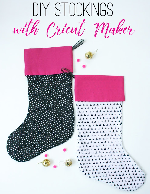 Easy DIY Stockings with the NEW Cricut Maker!