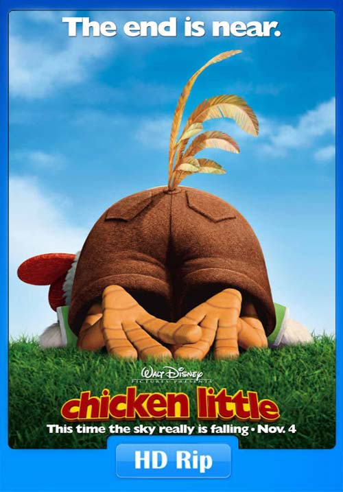 Chicken Little 2005 720p BDRip Hindi Tamil Telugu Eng x264 | 480p 300MB | 100MB HEVC