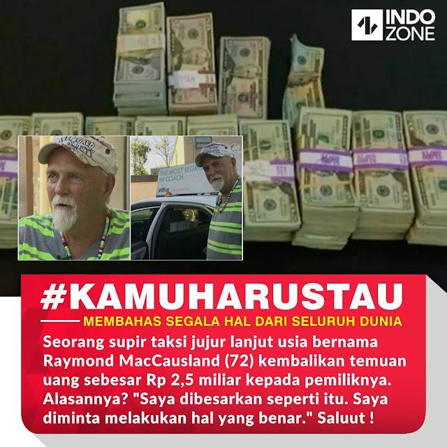 Heboh!!! Seorang Supir Taksi Lanjut Usia Mengembalikan Uang Rp 2,5 Miliar yang ia Temukan kepada Pemiliknya! Alasannya akan membuat anda terkejut!