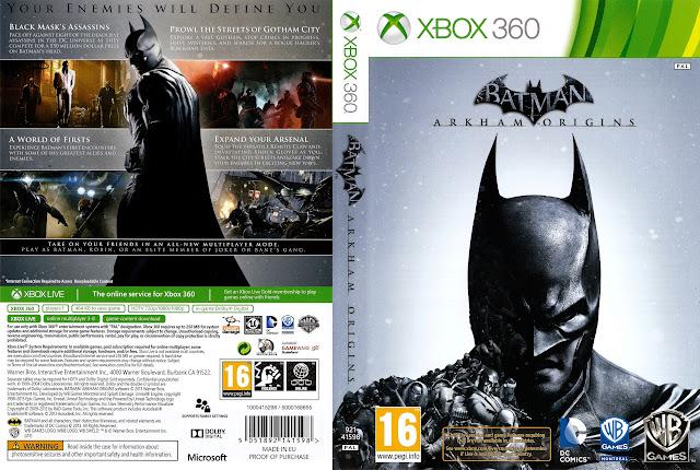 Capa xBox360 BATMAN ARKHAM ORIGINS