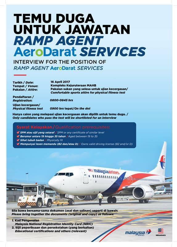 Temuduga Terbuka AeroDarat Services 16 April 2017