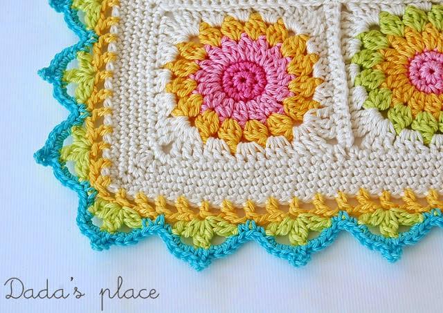 mes favoris tricot crochet tuto une jolie bordure au crochet. Black Bedroom Furniture Sets. Home Design Ideas