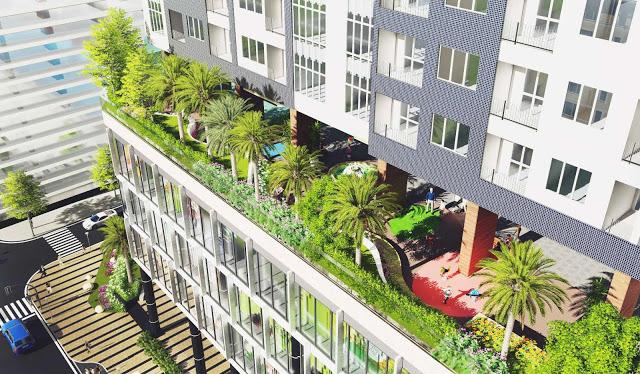 Không gian sống xanh tạo nên sự khác biệt của The Golden Palm