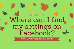 Where can I find my Facebook settings?