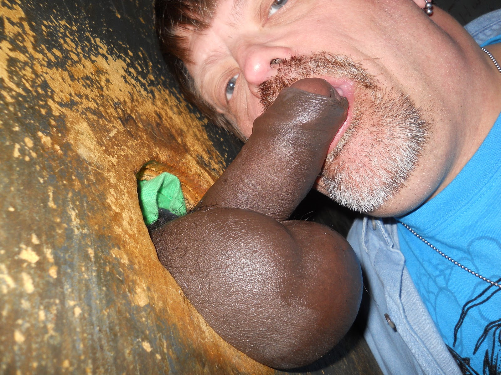 Cock balls black big and
