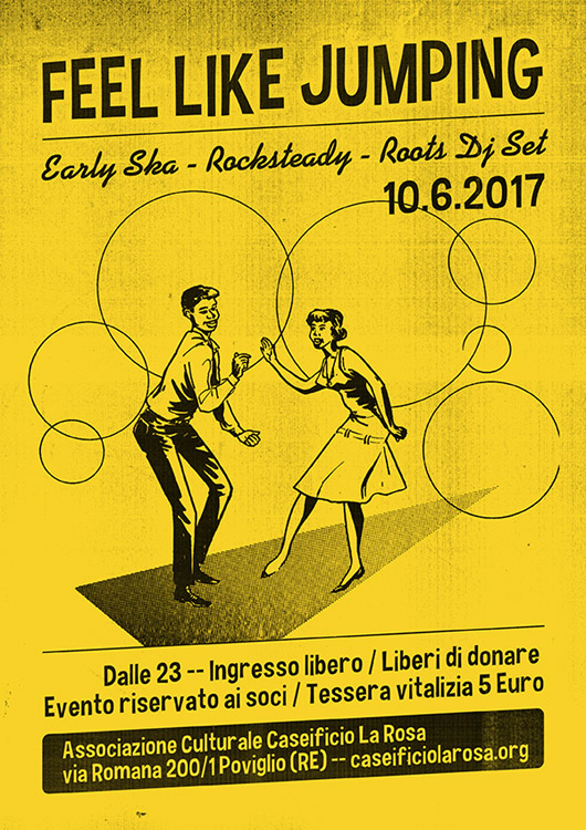 sabato 10 giugno 2017 Caseificio la Rosa Feel Like Jumping ska rocksteady dj set dj wally k-rock