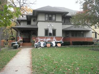 casa decorata per Halloween in America