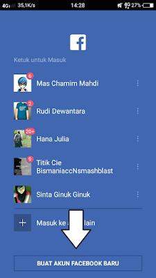 Cara buat akun facebook di handphone Melalui email