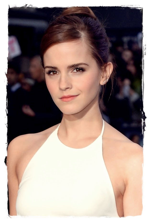 celebrities and fashion: Emma Watson With A Chic Updo