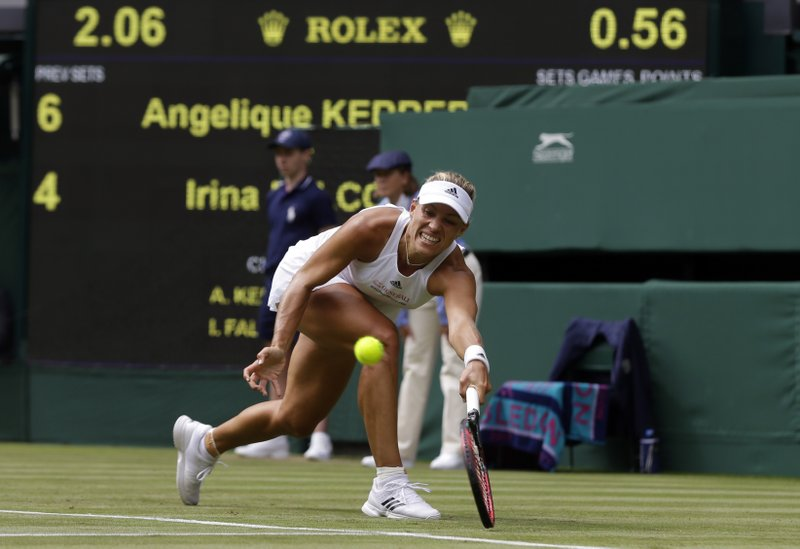 Kerber, Raonic make it through in straight sets at Wimbledon