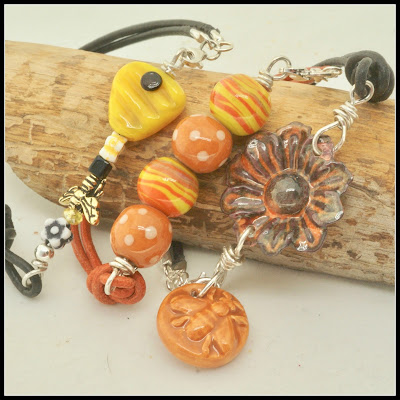 Bee bracelets by BayMoonDesign