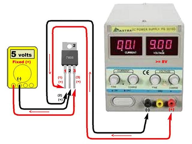 How to Test DC Voltage Regulator 7805