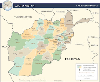 Picture map Of Afghanistan in 2009