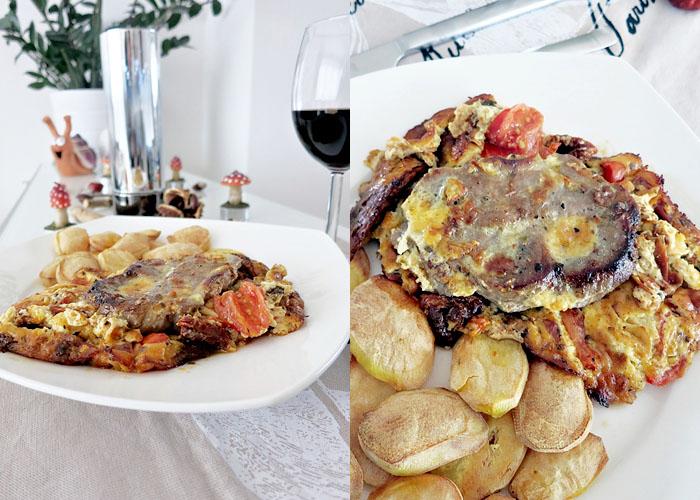 Italienisches Steak-Gratin