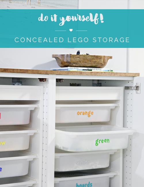 Boy's Den Update: Concealed Lego Storage