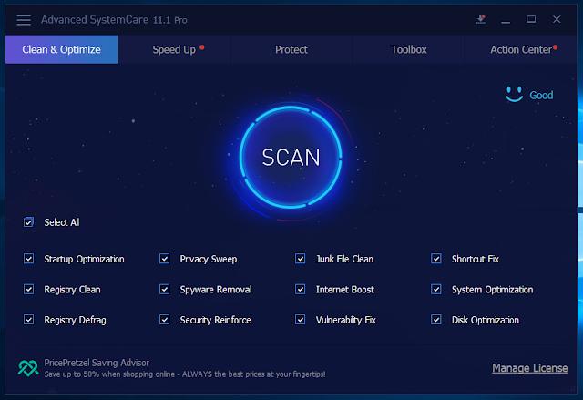 تحميل برنامج عملاق الصيانة Advanced SystemCare Pro 11
